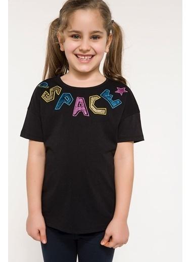 DeFacto Yazı Baskılı T-shirt Siyah